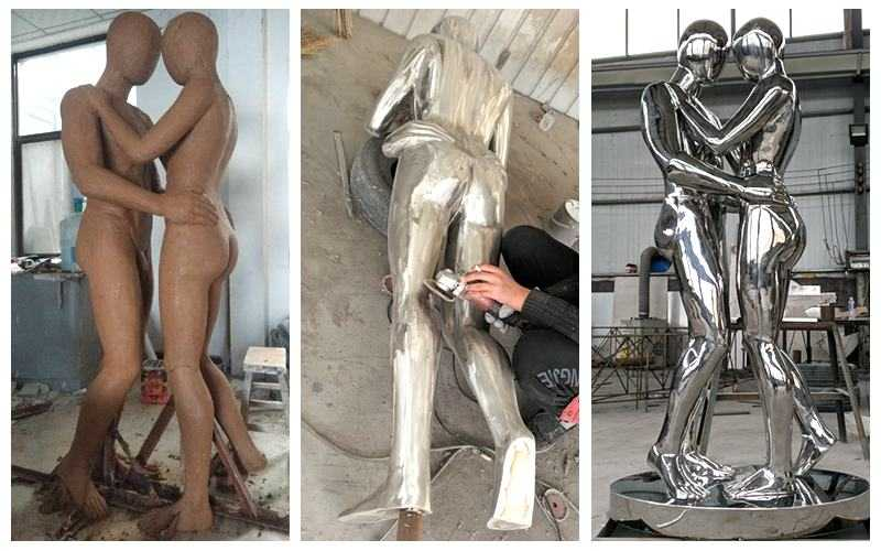 Stainless Steel Figurative Metal Sculpture