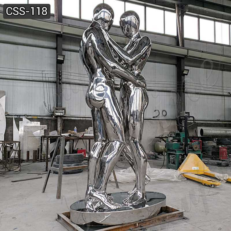Stainless steel figurative metal sculptures