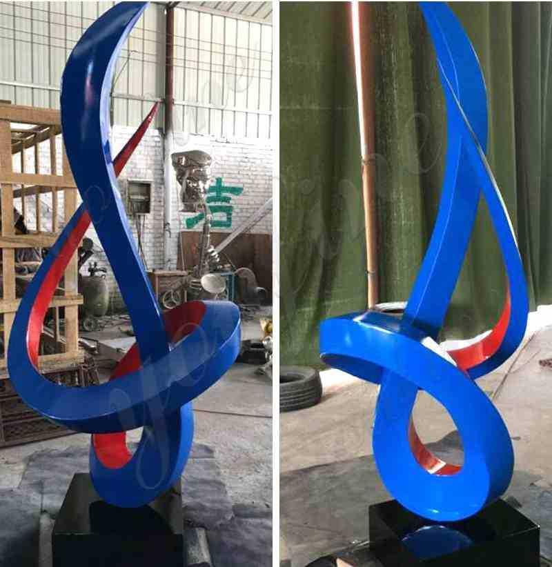 abstract steel sculptures