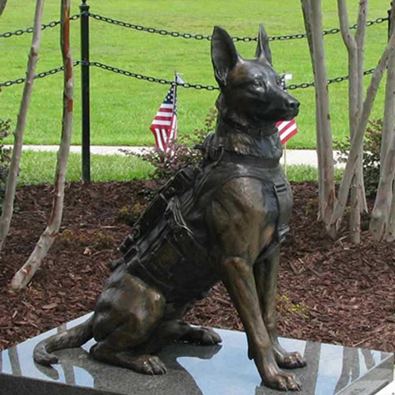 black german shepherd statue for sale