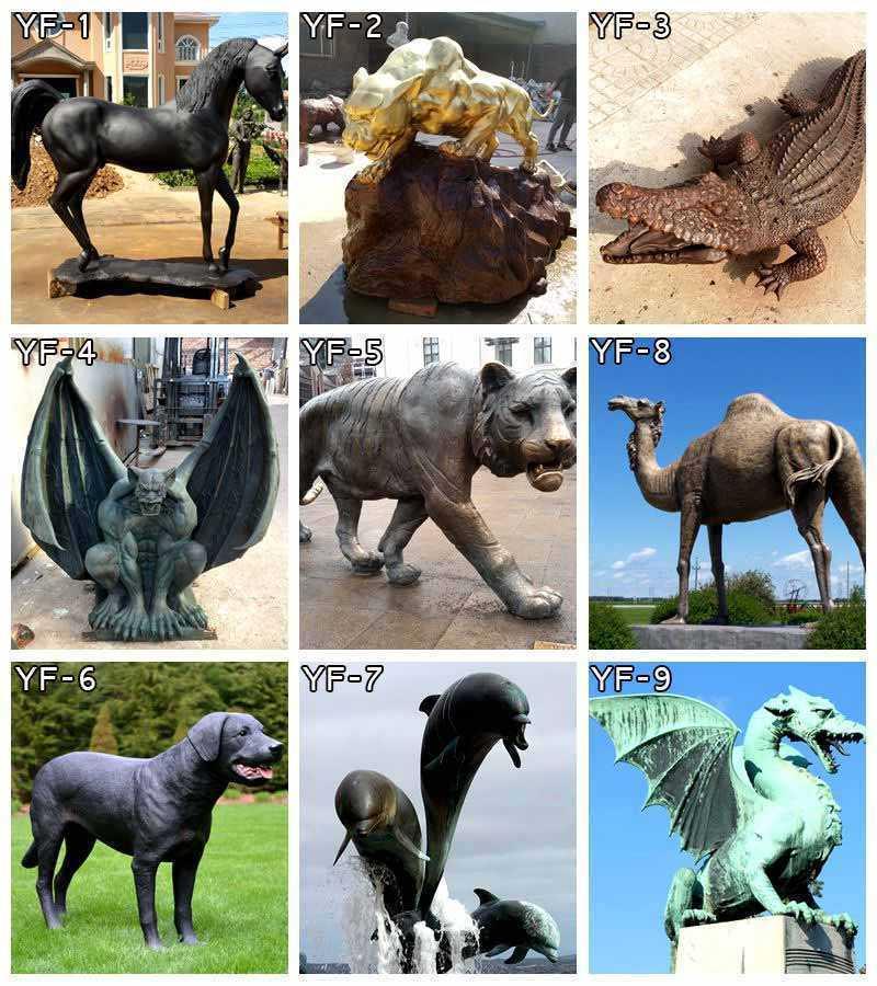 bronze-animal-statues