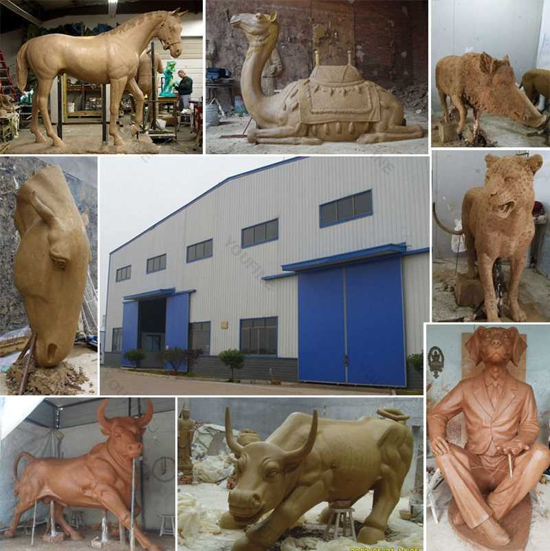 bronze deer statue