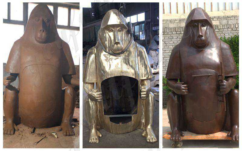 caly mold of Bronze Orangutan Fireplace Statue