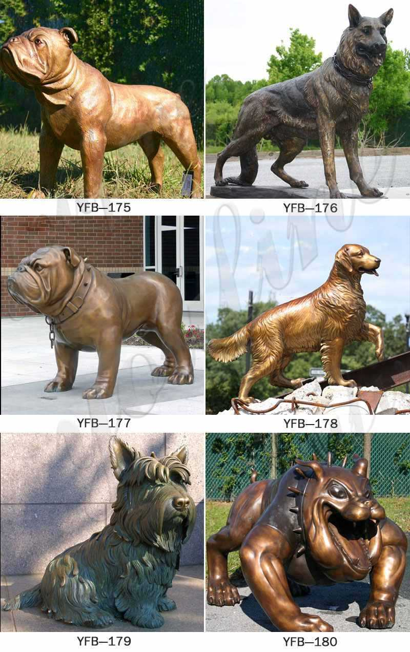 dog statues for outside,