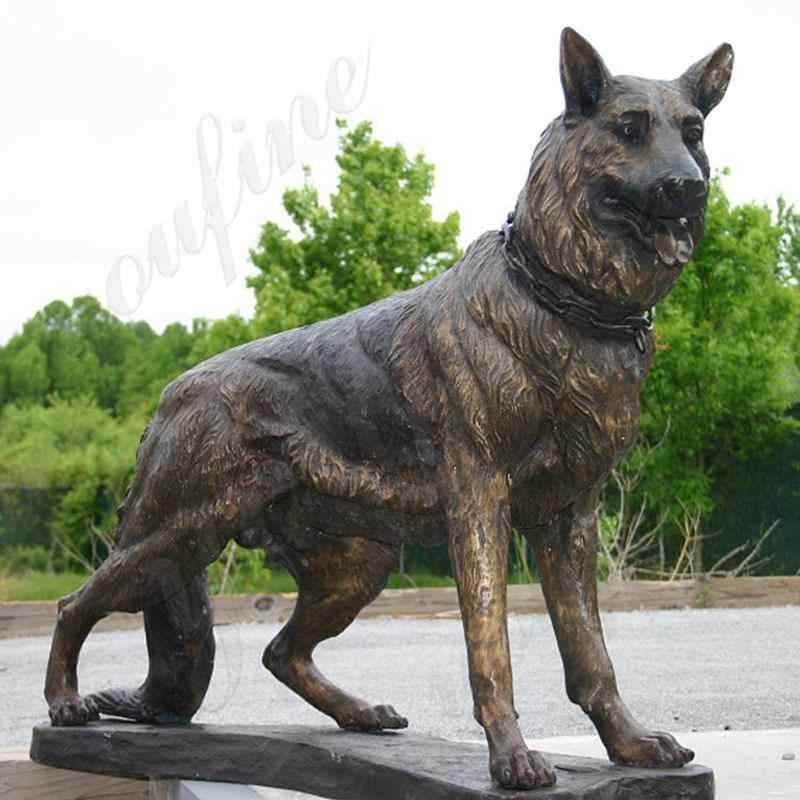 life size german shepherd statue for sale