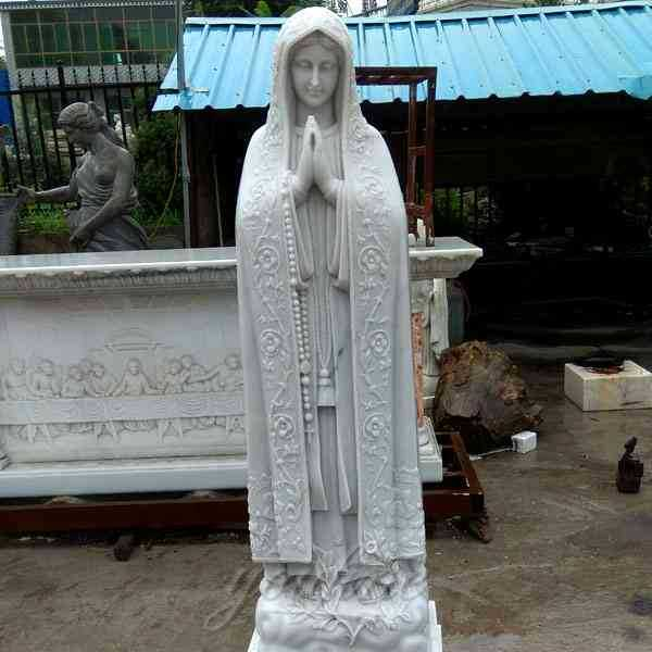 Our Lady of Fatima Marble Statue Professional Factory Manufacturer CHS-714