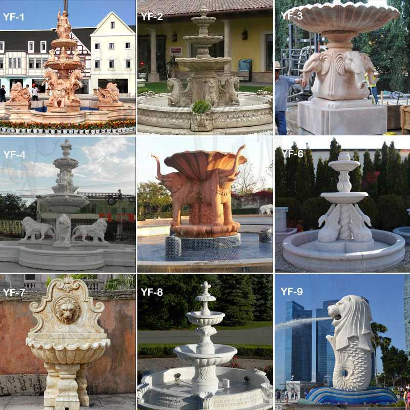 stacked stone fountains
