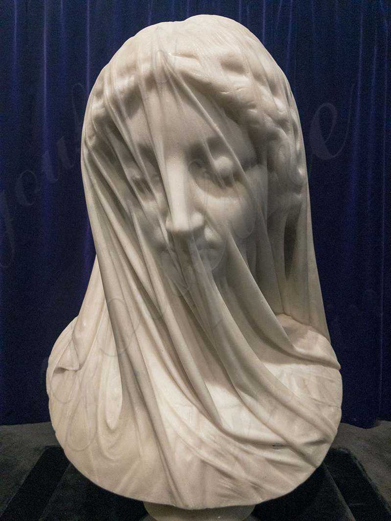 the-veiled-virgin marble statue