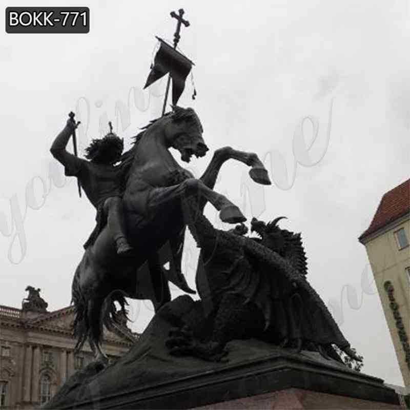 Bronze St George killing Dragon Statue for Sale