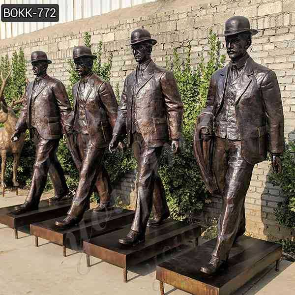 Bronze Wilbur and Orville Wright Group Sculpture