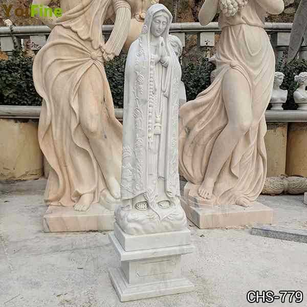 Cast Marble Holy Blessed Virgin Mother Mary Lady Statue for Sale