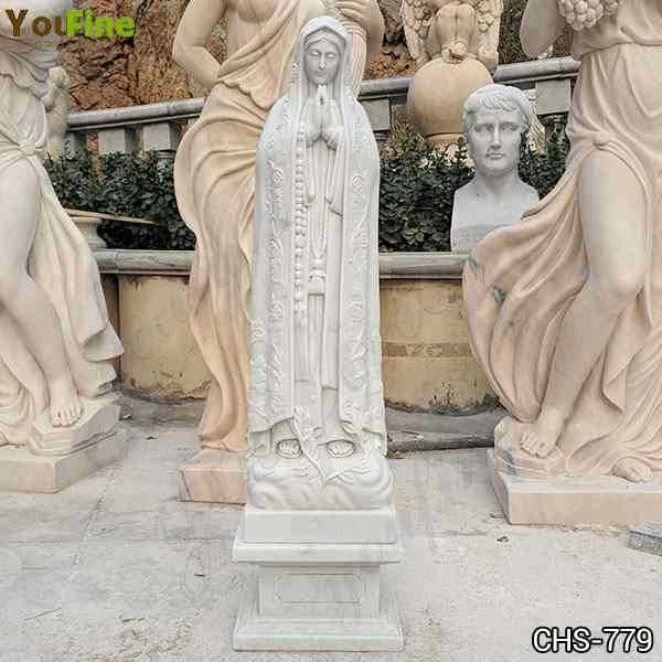 Cast Marble Holy Blessed Virgin Mother Mary Lady Statue for Sale CHS-779