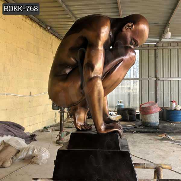 Casting Antique Bronze Nude Man Statue for Sale