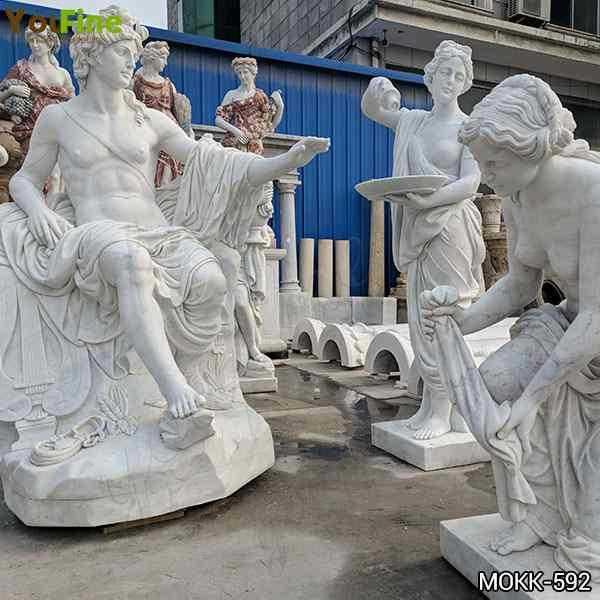 Classic Greek Outdoor White Marble Apollo Bath Statue Supplier