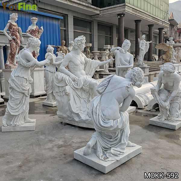 Classic Greek Outdoor White Marble Apollo Bath Statue