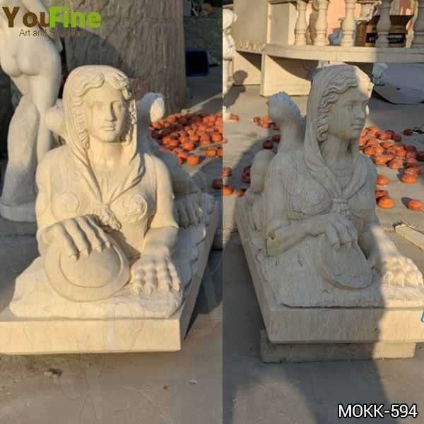 Classical Design Outdoor Egyptian Marble Sphinx Sculpture for Sale