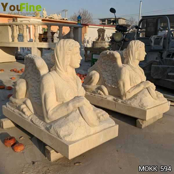 Classical Design Outdoor Egyptian Marble Sphinx Sculpture