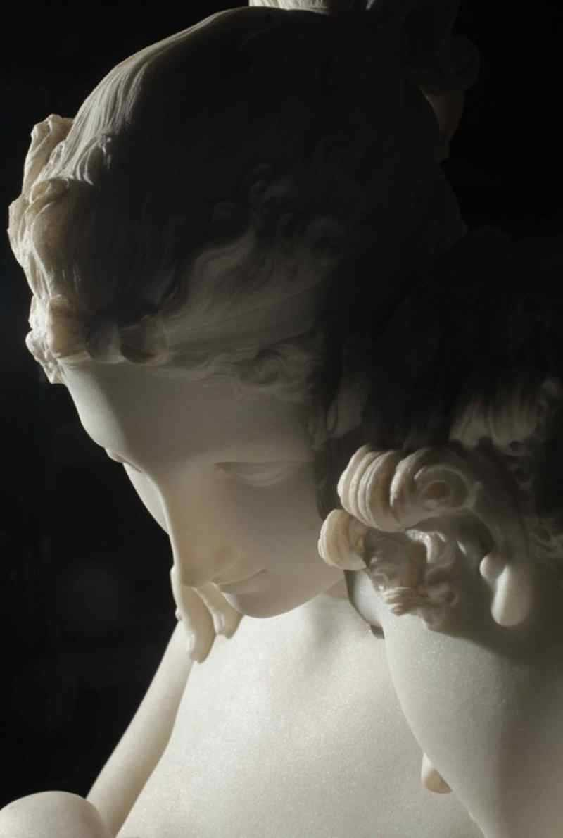Cupid and Psyche Standing marble statue