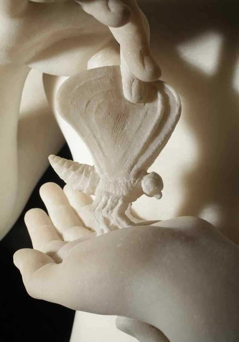 Cupid and Psyche Standing marble statues for sale