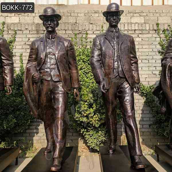Custom Made Bronze Wilbur and Orville Wright Group Sculpture for Sale BOKK-772