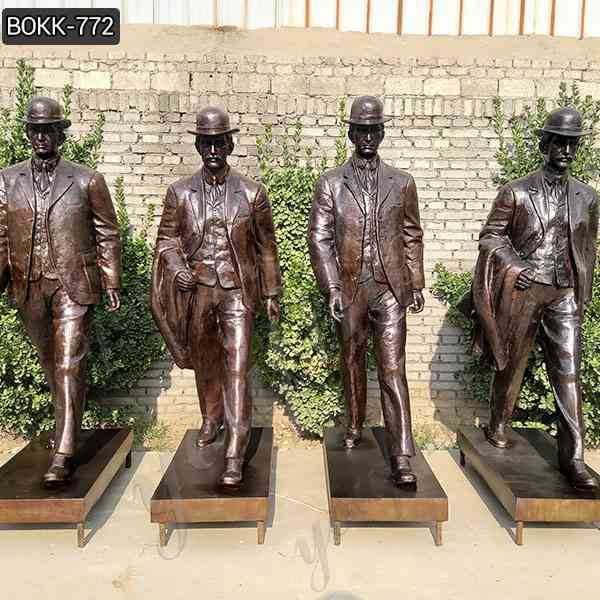 Custom Made Bronze Wilbur and Orville Wright Group Sculpture