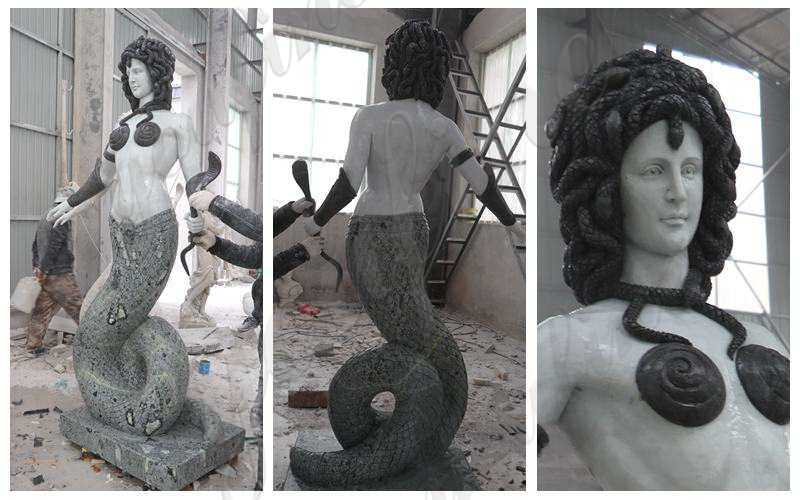 Custom Made Greek Medusa Marble Statue