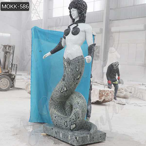 Custom Made Large Greek Medusa Marble Statue for Sale MOKK-586
