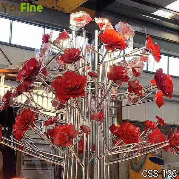 Decorative Metal Flower Sculpture for Outdoor Stainless Steel Sculpture Supplier