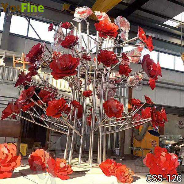 Decorative Metal Flower Sculpture for Outdoor Stainless Steel Sculpture