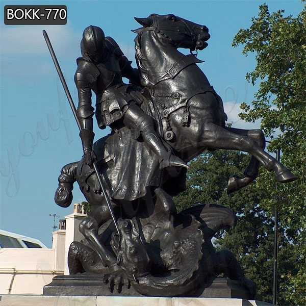 Famous Bronze St George Statue with Dragon for Sale
