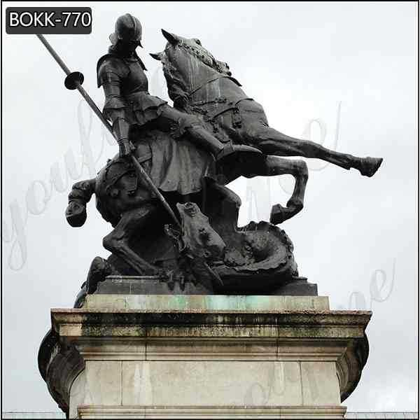 Famous Bronze St George Statue with Dragon