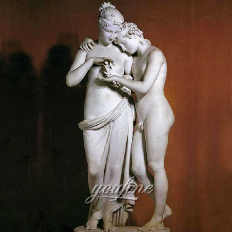 Famous art sculptures of antonio canova cupid and psyche standing