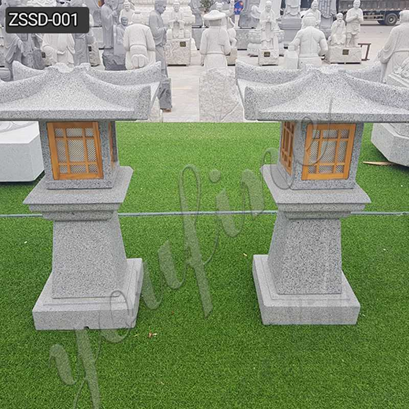 Granite Stone Lamp for Outdoor Garden Decor