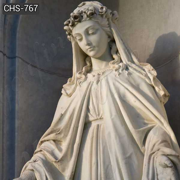 Hand Carved Virgin Mary Marble Statue for Catholic Church Decor Manufacturer