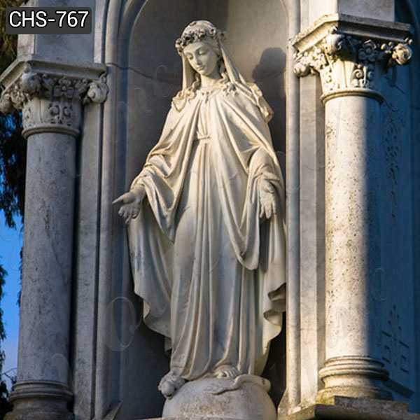 Hand Carved Virgin Mary Marble Statue for Catholic Church Decor Manufacturer CHS-767