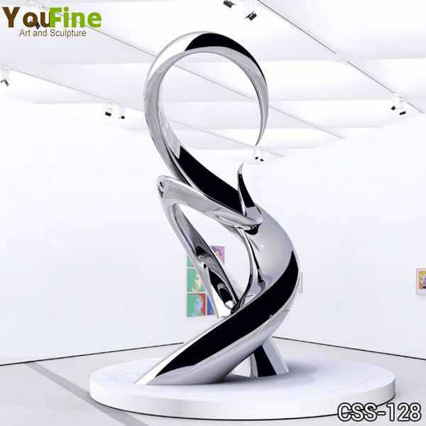 High Polished Modern Abstract Stainless Steel Sculpture