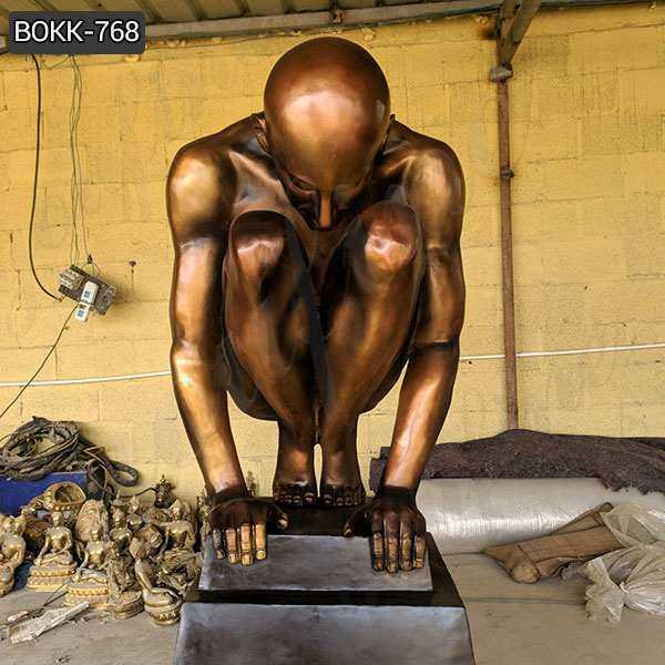 High Quality Casting Antique Bronze Nude Man Statue