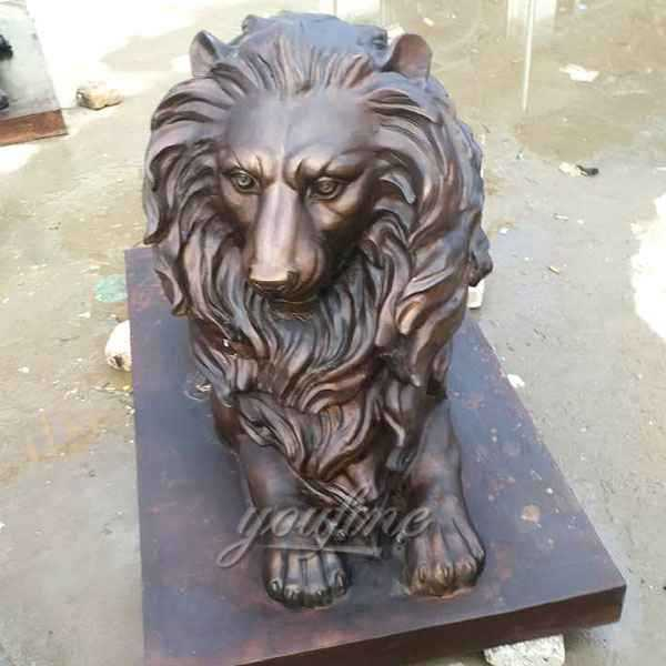 High Quality Casting Bronze Lion Statues for Driveway Supplier BOKK-491