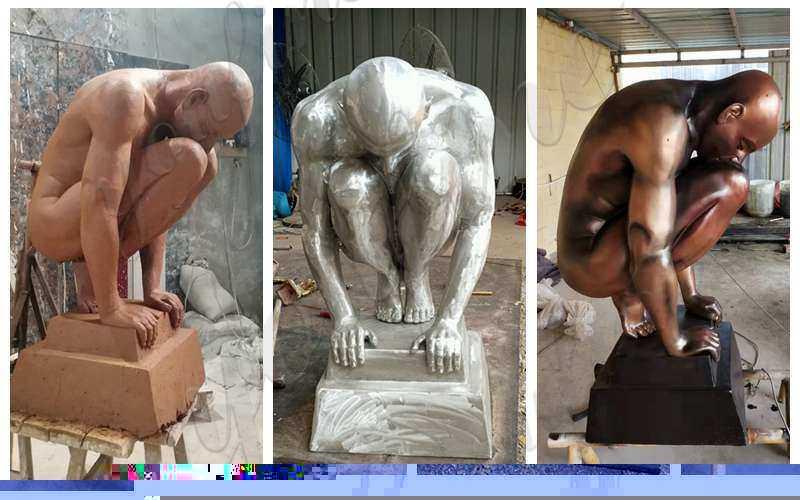 High Quality CastingBronze Nude Man Statue for Sale