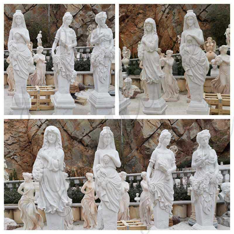 High Quality Four Seasons Marble Statues Garden Decor for Sale