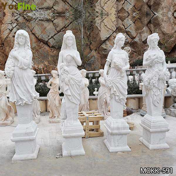 High Quality Life Size Four Seasons Marble Statues Garden Decor for Sale