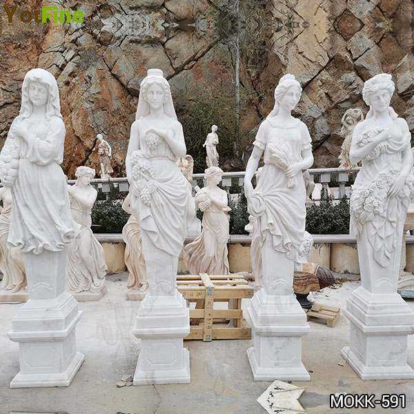 High Quality Life Size Four Seasons Marble Statues Garden Decor
