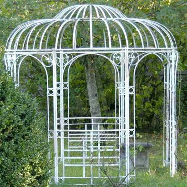 High Quality Outdoor White Wrought Iron Garden Gazebo Supplier