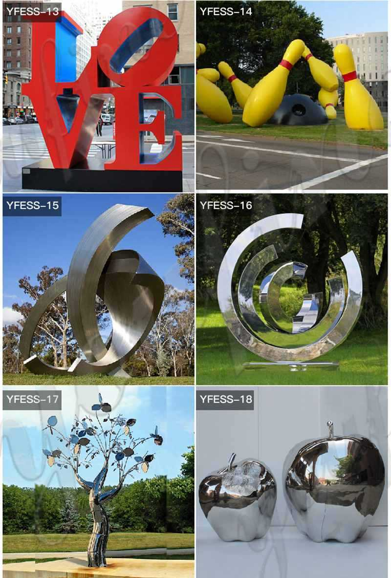 Large Outdoor Stainless Metal Sculpture for Sale