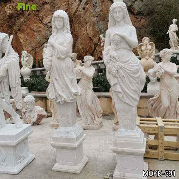 Life Size Four Seasons Marble Statues Garden Decor for Sale