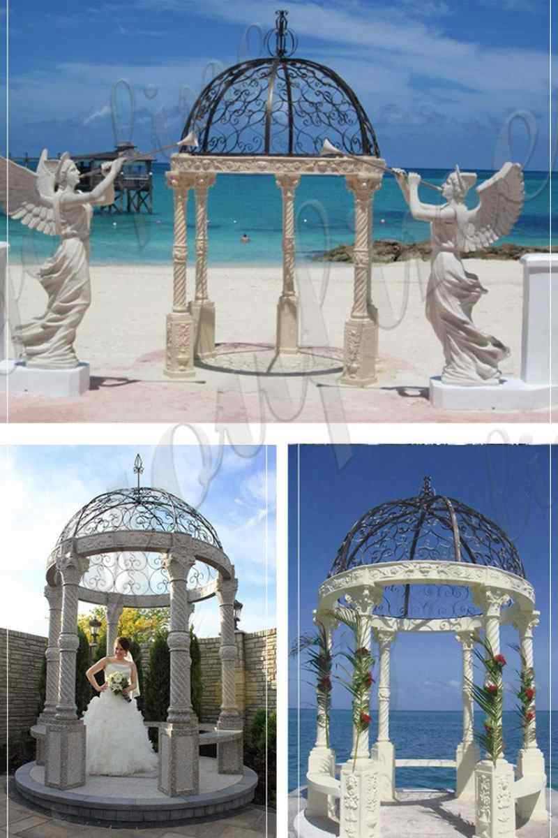 Marble Gazebo for Wedding Decorations