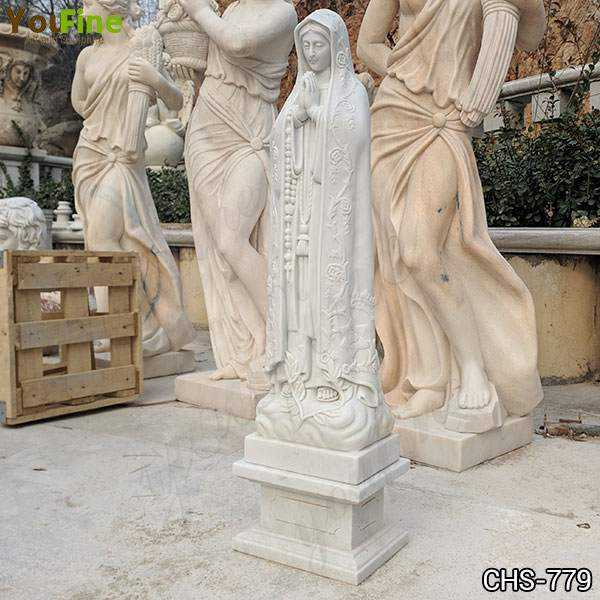 Marble Holy Blessed Virgin Mother Mary Lady Statue