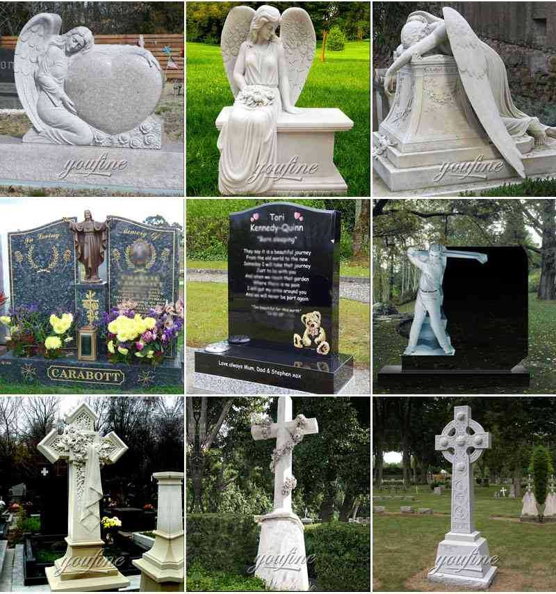 Marble Upright Tombstone for Sale