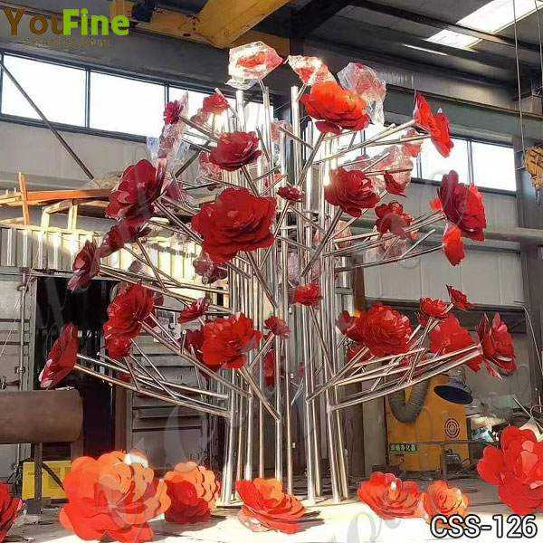 Metal Flower Sculpture for Outdoor Stainless Steel Sculpture Supplier
