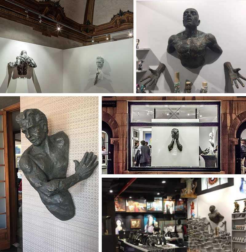 Modern bronze Matteo Pugliese Sculpture
